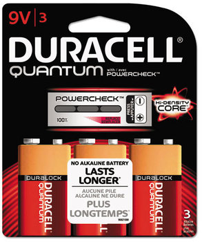 Duracell® Quantum 9V Alkaline Batteries with Duralock Power Preserve™ Technology. 36 count.