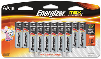Energizer® MAX® Alkaline Batteries,  AA, 16 Batteries/Pack