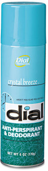 Dial® Anti-Perspirant Deodorant,  Crystal Breeze, 6oz Aerosol, 12/Carton