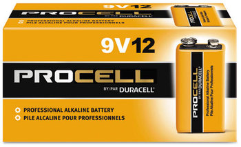 Picture of item 966-145 a Duracell® Procell® Alkaline Batteries, 9V, 12/Box