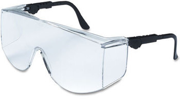 Picture of item CRW-TC110XL a Crews® Tacoma® TC1 XL Series Safety Glasses. Black Frames with Clear Lenses.
