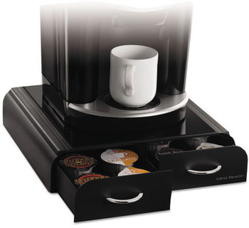 "Mind Reader Anchor Two-Drawer Single-Serve Coffee Cup Organizer,  13"" x 13"" x 2 1/2"""