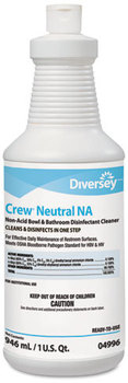 Picture of item P604-209 a Diversey™ Crew® RTU Neutral Non-Acid Bowl & Bathroom Disinfectant Cleaner,  32 oz Bottle