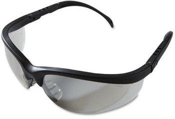 Picture of item CRW-KD119 a Crews® Klondike® Safety Glasses,  Black Matte Frame, Clear Mirror Lens