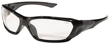 Picture of item CRW-FF120 a Crews® Forceflex™ Professional Grade Safety Glasses,  Black Frame, Clear Lens