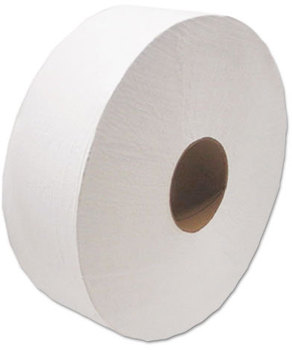 "Picture of item CSD-4040 a Cascades Decor® Jumbo Roll Jr. Tissue,  1-Ply, White, 3 1/2"" x 1500', 12 Rolls/Carton"