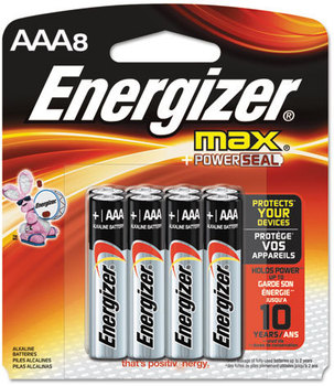 Picture of item EVE-E92MP8 a Energizer® MAX® Alkaline Batteries,  AAA, 8 Batteries/Pack