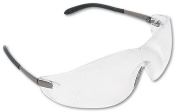 Picture of item CRW-S2110 a Crews® Blackjack® Safety Glasses,  Chrome Plastic Frame, Clear Lens