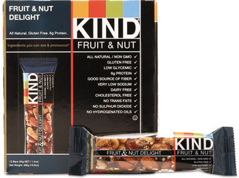 Picture of item KND-17824 a KIND Fruit and Nut Bars,  Fruit and Nut Delight, 1.4 oz, 12/Box