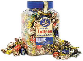 Picture of item OFX-94054 a Walker's Nonsuch® Assorted Toffee,  2.75lb Plastic Tub