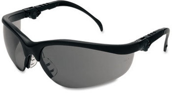 Picture of item CRW-KD312 a Crews® Klondike® Plus Safety Glasses,  Black Frame, Gray Lens