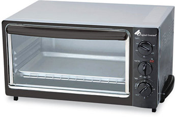 Coffee Pro Toaster Oven with Multi-Use Pan,  15 x 10 x 8, Black/Stainless