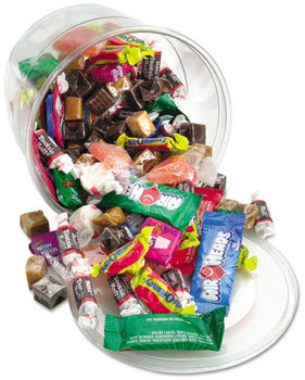 Picture of item OFX-00013 a Office Snax® Candy Assortments,  Assorted Soft Candy, 2 lb Plastic Tub