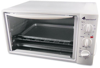 Coffee Pro Toaster Oven with Multi-Use Pan,  15 x 10 x 8, White