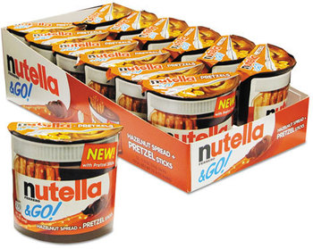 Picture of item NUT-80401 a Nutella® & Go! Hazelnut Spread and Breadsticks,  2.32 oz Pack, 12/Box