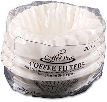 Picture of item OGF-CPF200 a Coffee Pro Basket Style Coffee Filters,  10 to 12-Cups, White, 200 Filters/Pack