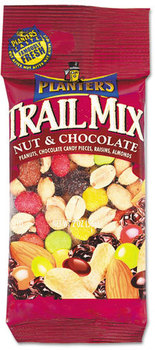 Picture of item PTN-00027 a Planters® Trail Mix,  Nut & Chocolate, 2oz Bag, 72/Carton