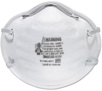 Picture of item MMM-8200 a 3M Particle Respirator 8200, N95,  20/Box