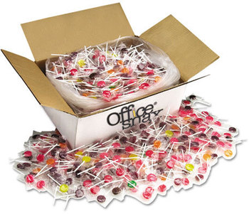 Picture of item OFX-00004 a Office Snax® Lick Stix,  Seven Assorted Fruit Flavors, 1440/Carton