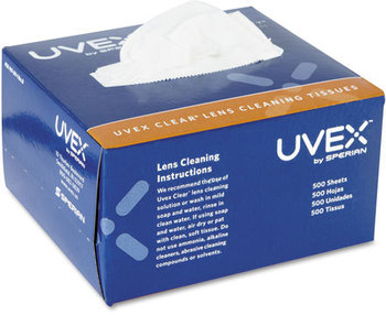 Picture of item UVX-S462 a Uvex™ by Honeywell Clear® Lens Cleaning Tissues,  500/Box