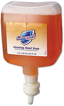 Picture of item PGC-47435 a Safeguard® Antibacterial Foaming Hand Soap,  Pleasant Scent, 1200mL Bottle, 4/Case