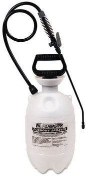 Picture of item RLF-1973 a R. L. Flomaster Standard Sprayer,  Wand w/Flat Fan Nozzle, Polyethylene, 3 Gallon, White/Black