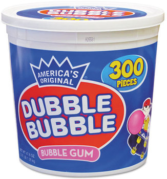 Picture of item TOO-16403 a Dubble Bubble Bubble Gum,  Original Pink, 300/Tub