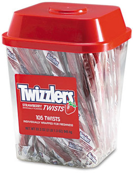Picture of item TWZ-51902 a Twizzlers® Strawberry Twizzlers®,  Individually Wrapped, 2lb Tub