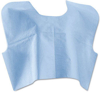 Picture of item MII-NON25249 a Medline Disposable Patient Capes,  3-Ply T/P/T, Blue 100/Carton