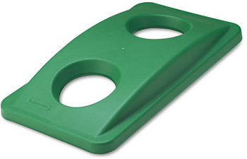 Picture of item 972-150 a Rubbermaid® Commercial Slim Jim® Bottle & Can Recycling Top,  20 3/8 x 11 3/8 x 2 3/4, Green