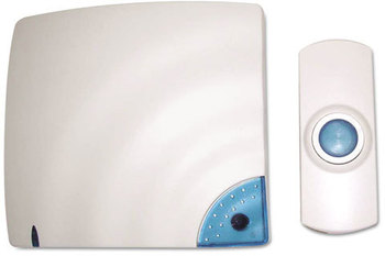 Picture of item TCO-57910 a Tatco Wireless Doorbell,  Battery Operated, 1-3/8w x 3/4d x 3-1/2h, Bone