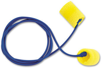 Picture of item MMM-3111101 a 3M E·A·R™ Classic™ Earplugs,  Corded, PVC Foam, Yellow, 200 Pairs