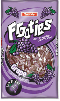Picture of item TOO-7801 a Tootsie Roll® Frooties,  Grape, 38.8oz Bag, 360 Pieces/Bag