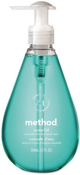 Method® Gel Hand Wash,  Waterfall, 12 oz Pump Bottle, 6/Case.