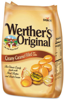 Picture of item WRT-39870 a Werther's® Original® Hard Candies,  Caramel w/Caramel Filling, 30 oz Bag