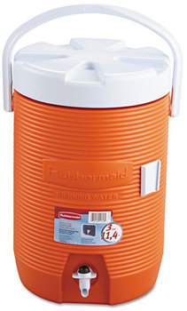 "Rubbermaid® Water Cooler,  12 1/2"" dia x 16 3/4h, Orange"