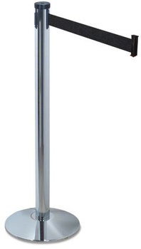 "Picture of item TCO-11500 a Tatco Adjusta-Tape Crowd Control Posts and Bases,  Nylon, 40"" High, Black, 2/Box"