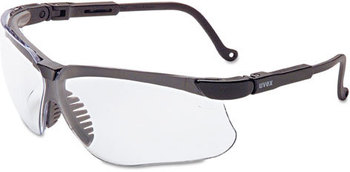 Picture of item UVX-S3200X a Uvex™ by Honeywell Genesis® Safety Eyewear,  Black Frame, Clear Lens