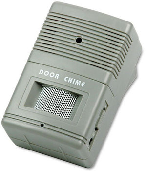 Picture of item TCO-15300 a Tatco Visitor Arrival/Departure Chime,  Battery Operated, 2-3/4w x 2d x 4-1/4h, Gray