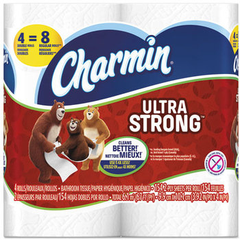 Picture of item PGC-94106 a Charmin® Ultra Strong 2-Ply Bathroom Tissue. 4 X 3.92 in. White. 12 count.