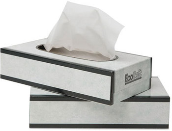 Picture of item 886-501 a Wausau Paper® EcoSoft™ Facial Tissue,  100 Sheets/Pack