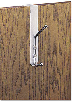Picture of item SAF-4166 a Safco® Coat Hook,  Chrome-Plated Steel, Satin Aluminum Base