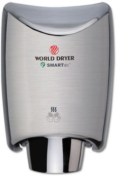 Picture of item WRL-K973A2 a WORLD DRYER® SMARTdri Hand Dryer,  Stainless Steel, Brushed