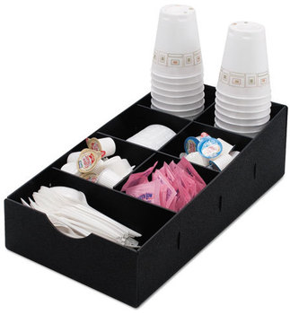 Vertiflex® Commercial Grade Condiment Caddy,  8 3/4w x 16d x 5 1/4h, Black