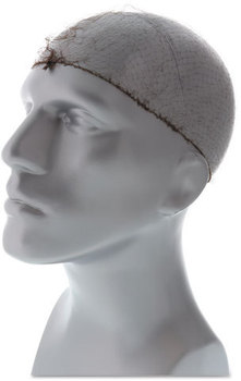 Picture of item RPP-RPH144LTDB a Royal Lightweight Nylon Latex-Free Hairnets. 24 in. Dark Brown. 2880 count.