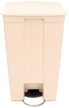 Picture of item 561-132 a Rubbermaid® Commercial Step-On Receptacle,  Rectangular, Polyethylene, 23gal, Beige