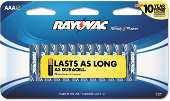 Rayovac® Alkaline Batteries,  AAA, 12/ Pack