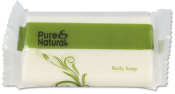 Picture of item PNN-500150 a Pure & Natural™ Body & Facial Soap,  1.5 oz, Fresh Scent, White, 500/Carton