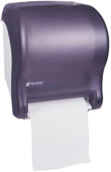 San Jamar® Tear-N-Dry Essence™ Touchless Towel Dispenser,  11.75x9 1/8x14 7/16, Black Pearl