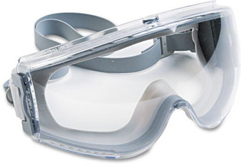 Picture of item UVX-S3960C a Uvex™ by Honeywell Stealth® Safety Goggles,  Antiscratch, Antistatic Goggles, Clear Lens, Gray Frame